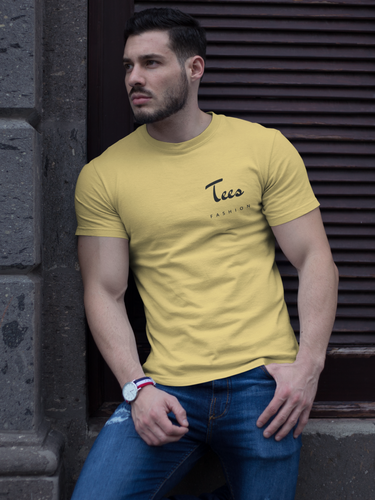 Tees Fashion - Men's Half Sleeve T-Shirt - Yellow