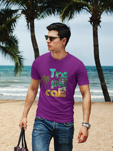 Tropical Beach - Men's Half Sleeve T-Shirt - Purple