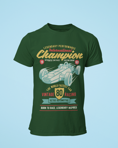 Vintage Racing - Men's Half Sleeve T-Shirt - Green