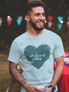 Weekend Vibes - Men's Half Sleeve T-Shirt - Blue