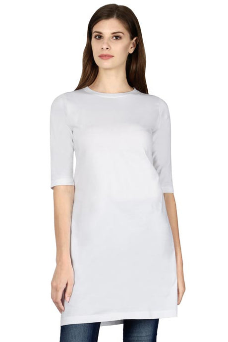 Plain - Women's long top T-Shirt - White