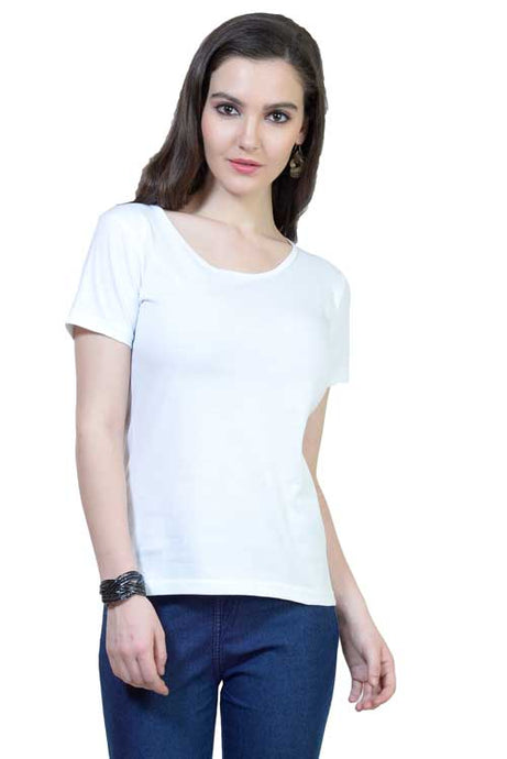 Plain - Women's Half Sleeve T-Shirt - White