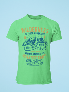 Wilderness - Men's Half Sleeve T-Shirt - Kiwi Green