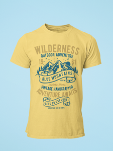 Wilderness - Men's Half Sleeve T-Shirt - Yellow
