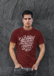 Success - Men's Half Sleeve T-Shirt - Maroon