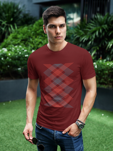X-Crossify - Men's Half Sleeve T-Shirt - Maroon