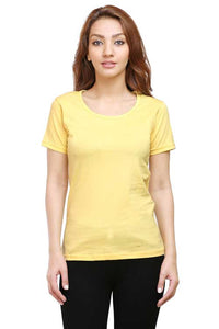 Plain - Women's Half Sleeve T-Shirt - Yellow