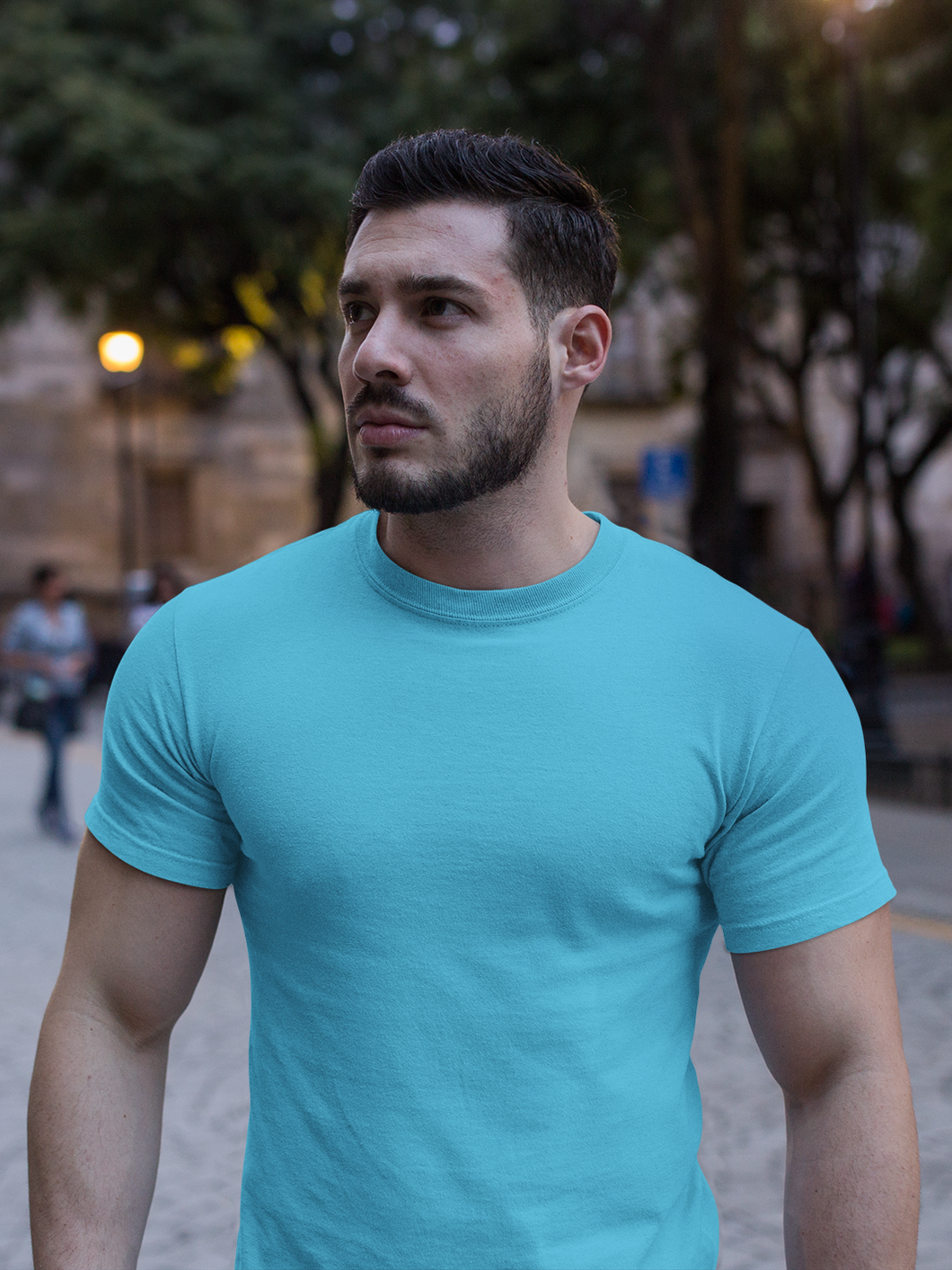 Plain - Men's Half Sleeve T-Shirt - Blue