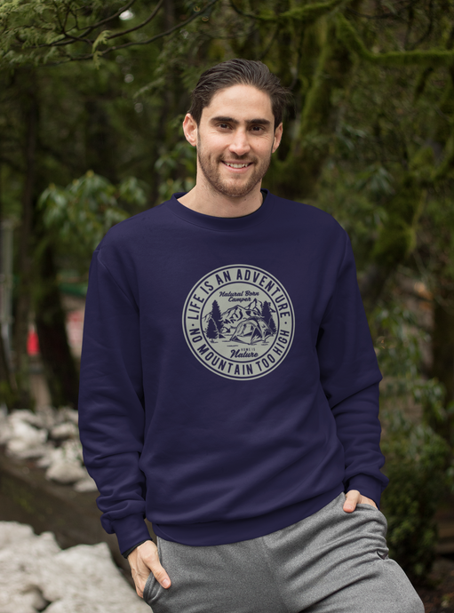 Adventure - Unisex Sweatshirt - Navy Blue