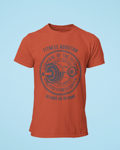 Fitness Addict - Men's Half Sleeve T-Shirt - Brick Red