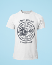 Fitness Addict - Men's Half Sleeve T-Shirt - White