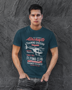 Flying Club - Men's Half Sleeve T-Shirt - Petrol Blue