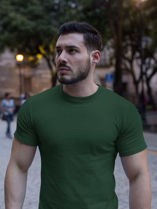 Plain - Men's Half Sleeve T-Shirt - Green