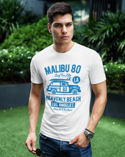 Malibu - Men's Half Sleeve T-Shirt - White