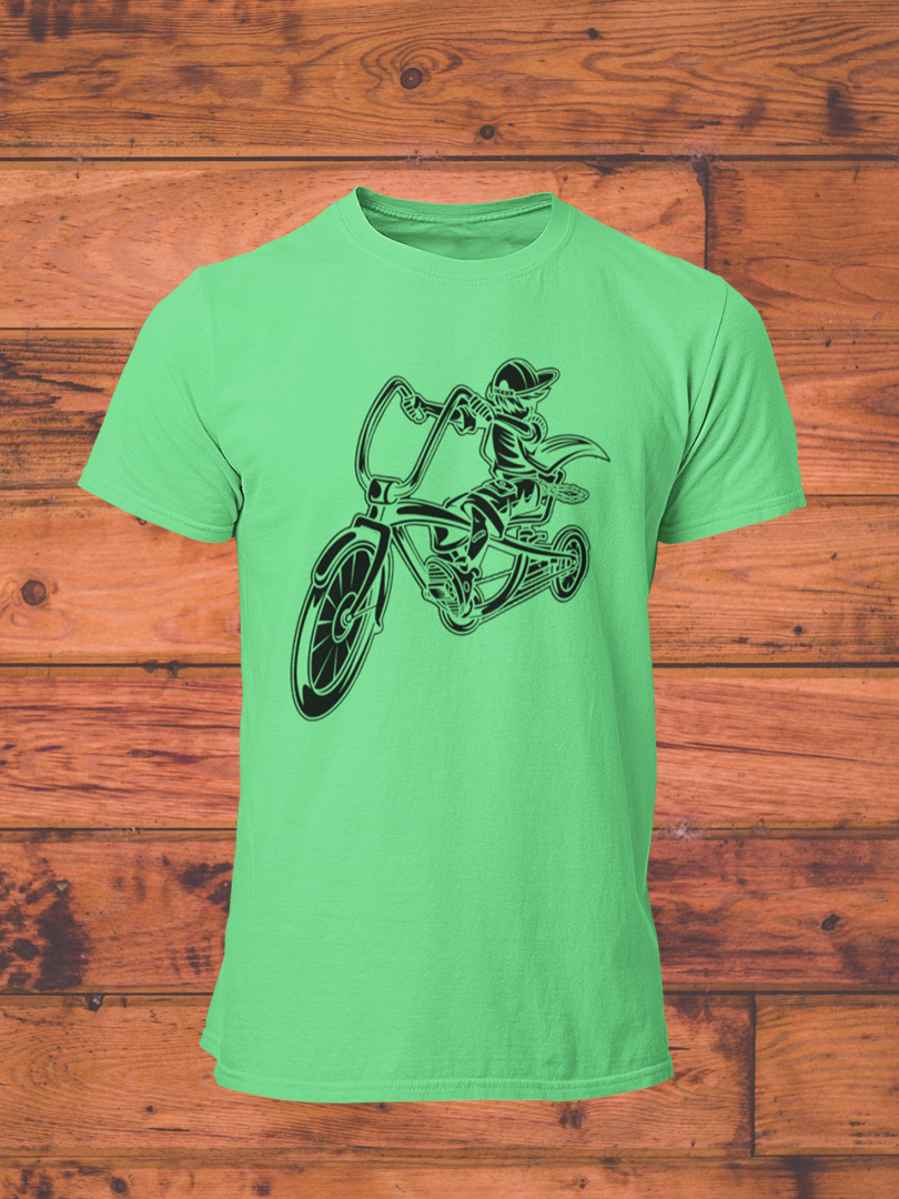 MrK Jinete - Men's Half Sleeve T-Shirt - Kiwi Green