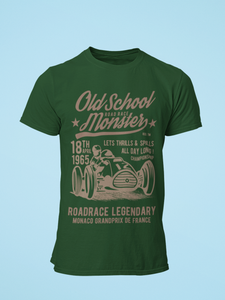 Old School Monster - Men's Half Sleeve T-Shirt - Green