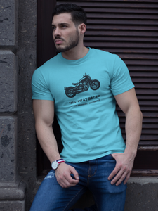 Highway Bobber - Men's Half Sleeve T-Shirt - Blue