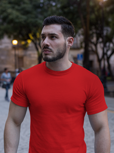 Plain - Men's Half Sleeve T-Shirt - Red