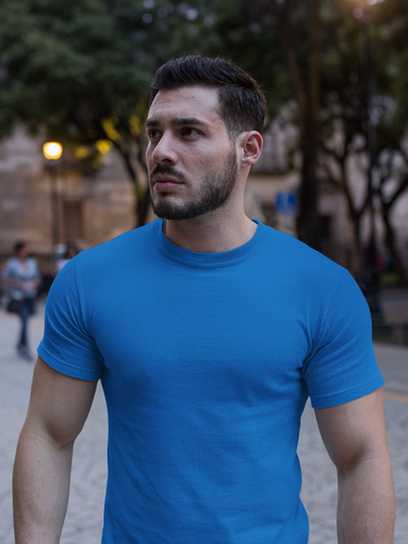 Plain - Men's Half Sleeve T-Shirt - Royal Blue