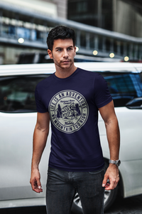 Adventure - Men's Half Sleeve T-Shirt - Ink Blue