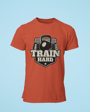 Train Hard - Men's Half Sleeve T-Shirt - Brick Red
