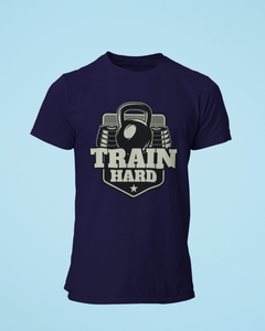 Train Hard - Men's Half Sleeve T-Shirt - Ink Blue