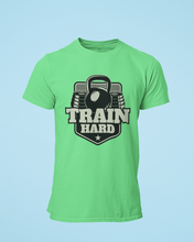 Train Hard - Men's Half Sleeve T-Shirt - Kiwi Green