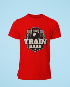 Train Hard - Men's Half Sleeve T-Shirt - Red