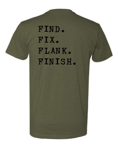 Find Fix Flank Finish Tee