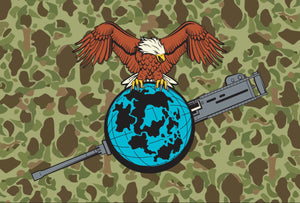 The Eagle Globe and Gun Flag