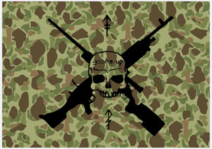 Snipers/Guns Frogskin Flag