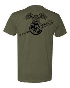 Eagle Globe and Gun Tee