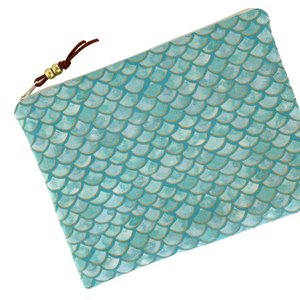 Mermaid Scale Zip Pouch