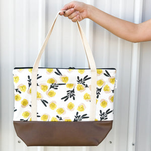 Tote Bag - Mustard & Blush Floral