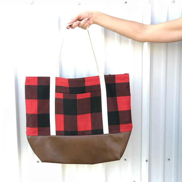 Tote Bag - Buffalo Plaid Tote Bag