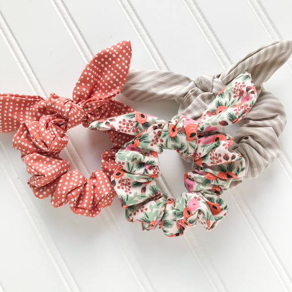 Scrunchie Set - Rosa Blush