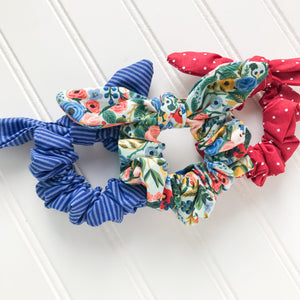 Scrunchie Set - Garden Party Blue