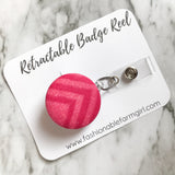 Retractable Badge Reel - Pink Geometric