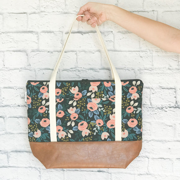 Tote Bag - Rifle Paper Co. Rosa Black