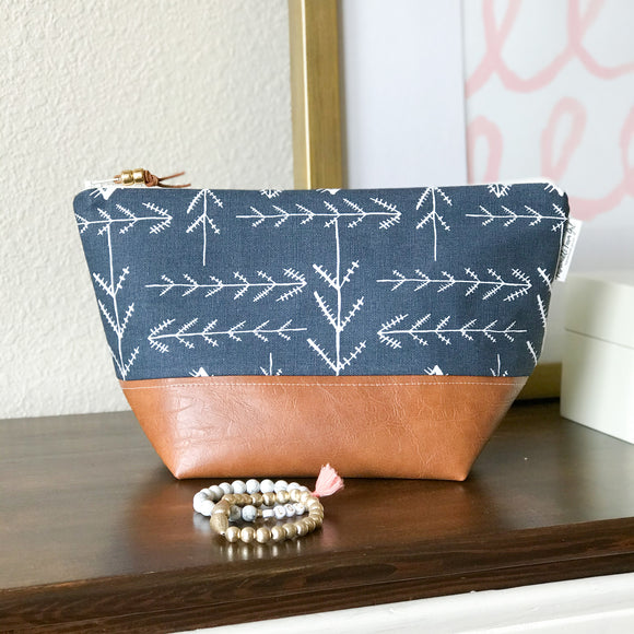 Makeup Bag - Navy Native