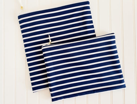 Navy Stripe Wet Bag