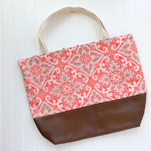 Tote Bag - Coral Medallion