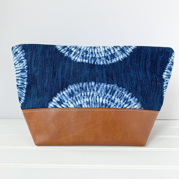 Makeup Bag - Shibori Print