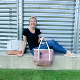 Tote Bag - Dusty Rose Stripe