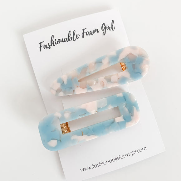 Hair Barrette - Baby Blue