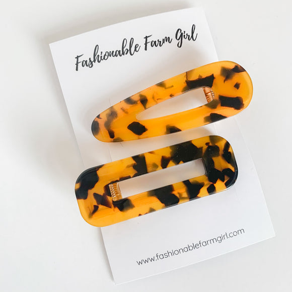 Hair Barrette - Tiger Tortiosehell