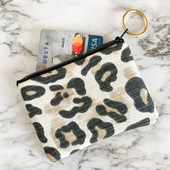 Leopard Print Mini Zip