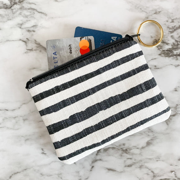 Wonky Stripe Mini Zip