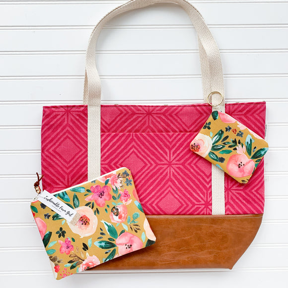 Tote Bag Bundle - Pink & Floral