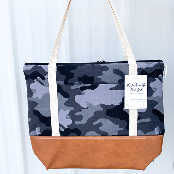 Tote Bag - Black Camo